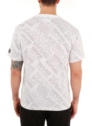 Versace Jeans  % 100 Pamuklu Bisiklet Yaka T Shirt Erkek T Shırt B3Gzb7Ra S0960 003 Beyaz